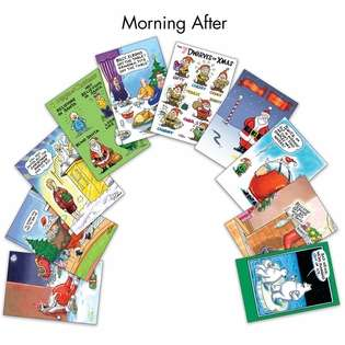 Humorous Christmas Paper Card from NobleWorksCards.com - Morning After