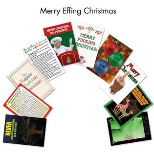 Hysterical Christmas Greeting Card from NobleWorksCards.com - Merry Effing Christmas