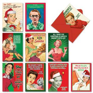 Naughty Is Nice Christmas Card By Nobleworks