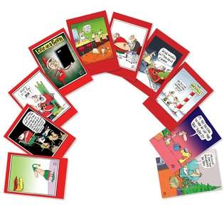 Funny Christmas Paper Greeting Card by Glenn McCoy from NobleWorksCards.com - No Complaints