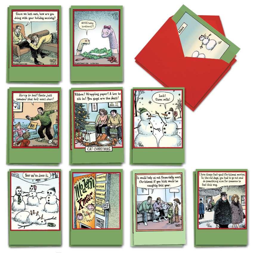 Bizarro by Piraro Christmas Assortment: Hilarious Merry Christmas Mixed Set of 20 Cards