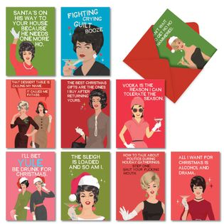 Funny Merry Christmas Card By Bluntcard From NobleWorksCards.com - Merry and Blunt