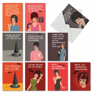 Hilarious Halloween Greeting Card By Bluntcard From NobleWorksCards.com - Scary and Blunt