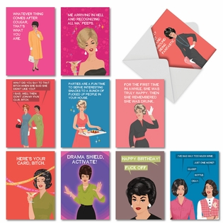 Humorous Birthday Paper Card By Bluntcard From NobleWorksCards.com - Happy and Blunt