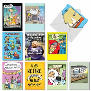 Funny Retirement Paper Greeting Card By Assorted Artists From NobleWorksCards.com - Ready For Retirement