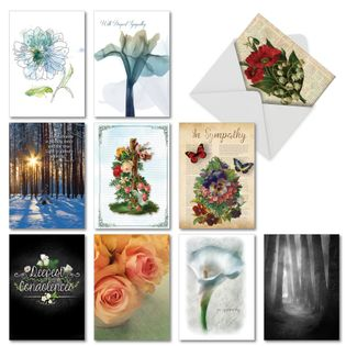 Creative Sympathy Printed Greeting Card By Assorted Artists From NobleWorksCards.com - Deepest Sympathies