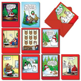 Hysterical Merry Christmas Printed Card By Randall McIlwaine From NobleWorksCards.com - Holly Jolly Rice Cakes