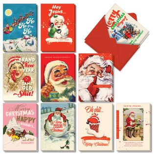 Humorous Merry Christmas Card By Offensive+Delightful From NobleWorksCards.com - Very Merry O+D