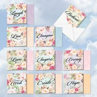 Creative All Occasions Printed Greeting Card by Batya Sagy from NobleWorksCards.com - In A Word