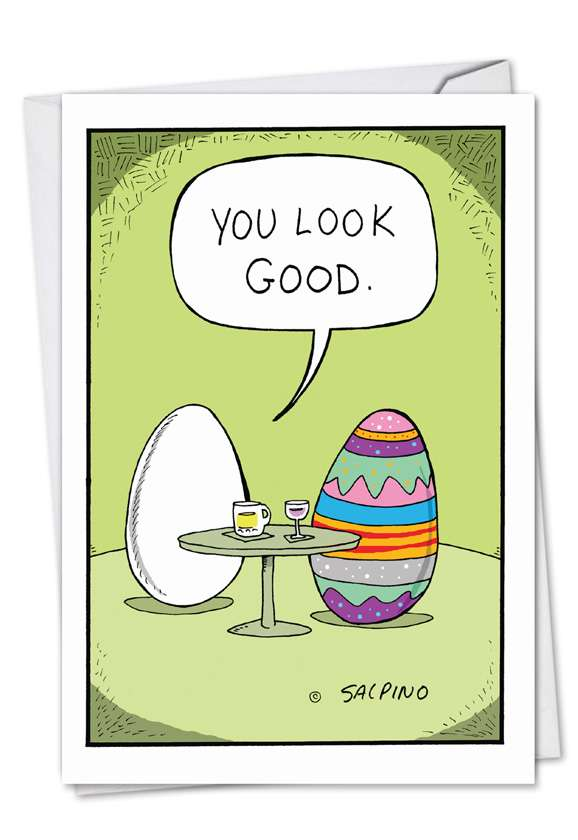 Hilarious Easter Greeting Card by Michael Salpino from NobleWorksCards.com - Good Egg