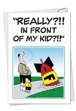 Humorous Father's Day Greeting Card by Brad Diller from NobleWorksCards.com - The F Bomb