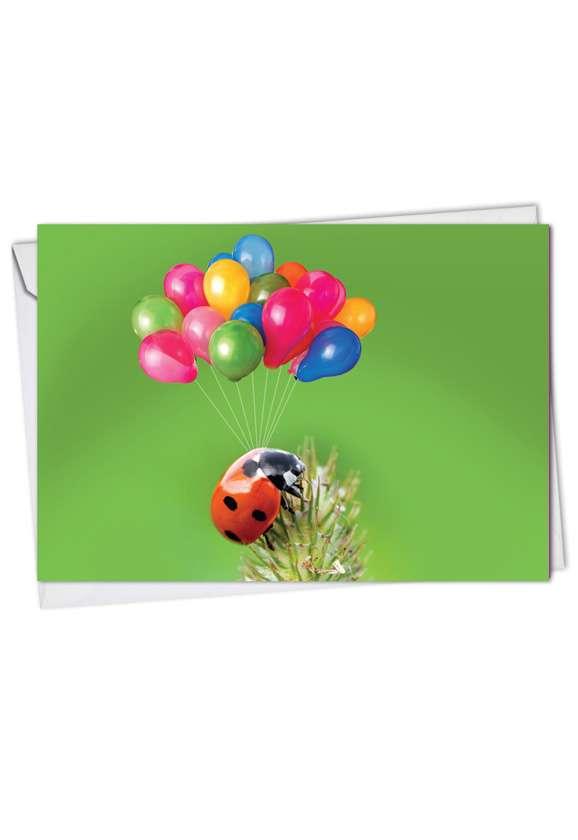 Stylish Birthday Printed Greeting Card from NobleWorksCards.com - Lady B