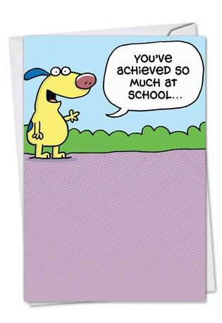 Hysterical Graduation Printed Greeting Card by Scott Nickel from NobleWorksCards.com - Energy Drinks