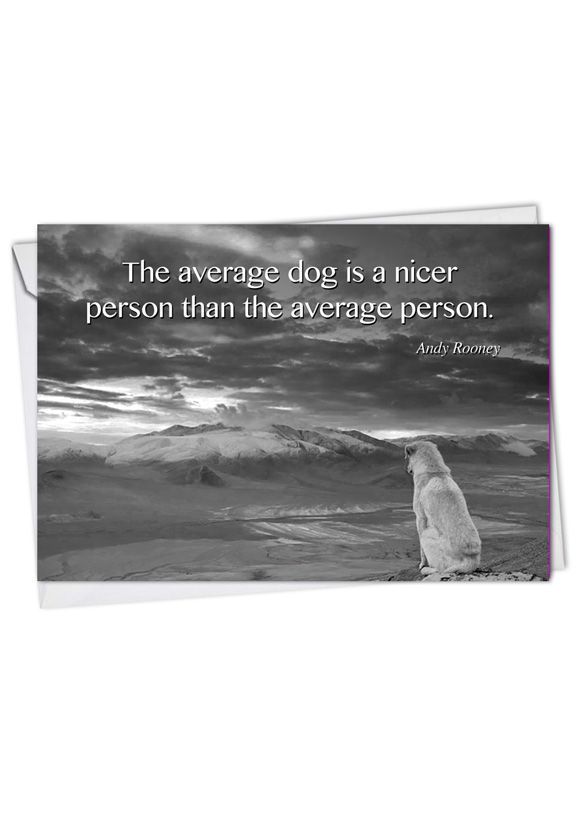 Creative Blank Paper Card from NobleWorksCards.com - Canine Comments