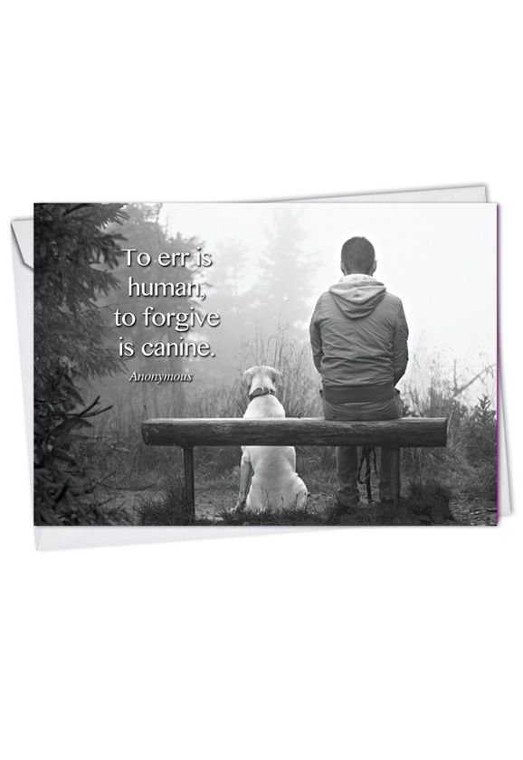 Creative Blank Greeting Card from NobleWorksCards.com - Canine Comments