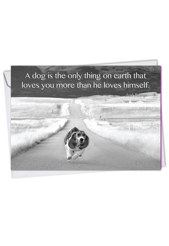 Stylish Blank Printed Greeting Card from NobleWorksCards.com - Canine Comments