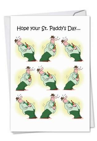 Hysterical St. Patrick's Day Paper Card by D. T. Walsh from NobleWorksCards.com - St. Paddy Rocks