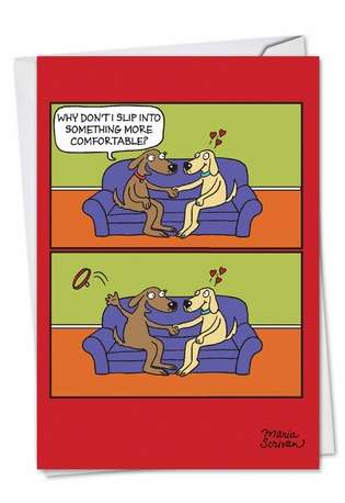 Hysterical Valentine's Day Paper Card by Maria Scrivan from NobleWorksCards.com - Uncollared