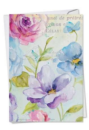 Creative Get Well Paper Greeting Card from NobleWorksCards.com - Cool Blossoms