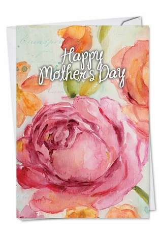 Stylish Mother's Day Greeting Card by Carol Robinson from NobleWorksCards.com - Warm Blossoms