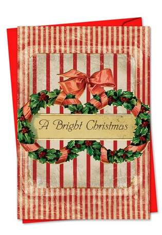 Stylish Christmas Paper Greeting Card by Veronique Duhamel from NobleWorksCards.com - Holiday Memories