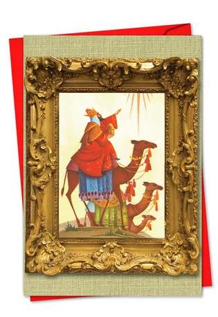 Creative Christmas Greeting Card from NobleWorksCards.com - We Three Kings