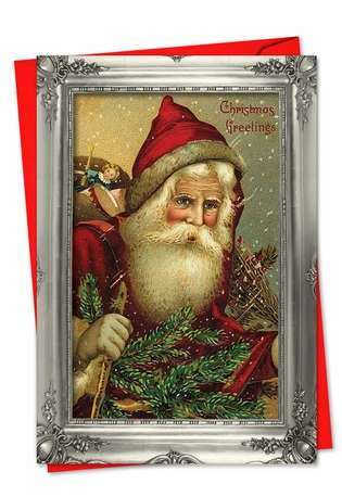Stylish Christmas Printed Card from NobleWorksCards.com - Picture-Perfect Santas