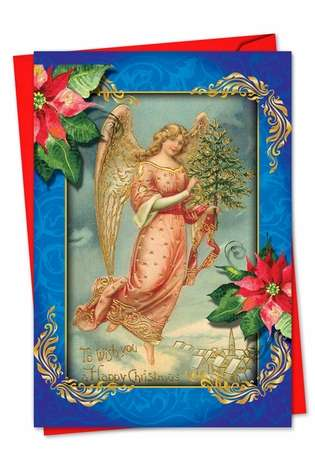 Stylish Christmas Greeting Card from NobleWorksCards.com - Christmas Angels