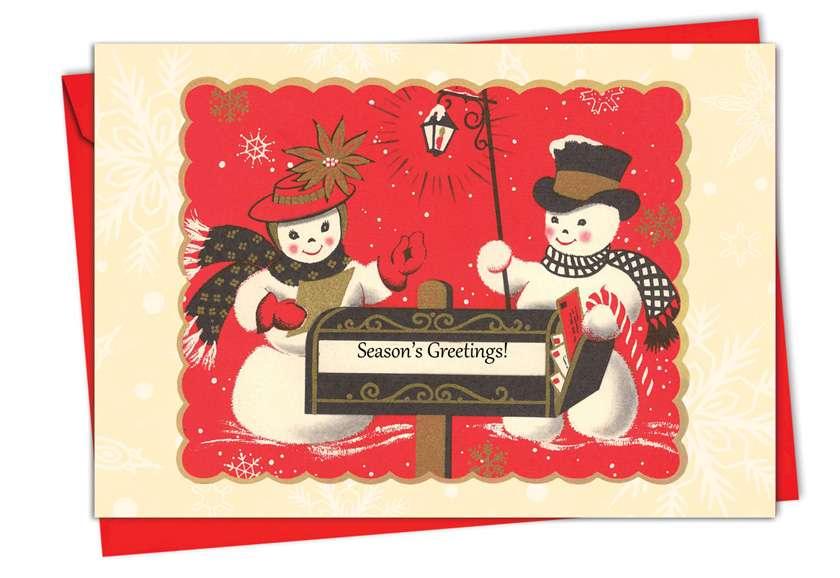 Creative Christmas Paper Card from NobleWorksCards.com - A Crimson Christmas