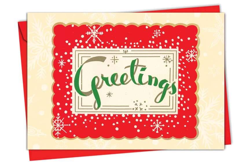 A Crimson Christmas: Creative Christmas Printed Card
