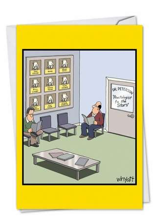 Hilarious Birthday Printed Greeting Card by Tim Whyatt from NobleWorksCards.com - Celebrity Proctologist