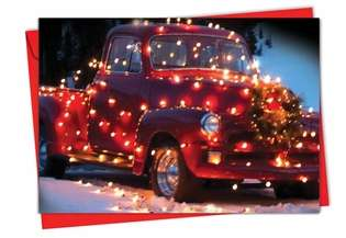 Creative Christmas Paper Card from NobleWorksCards.com - All Trucked Up