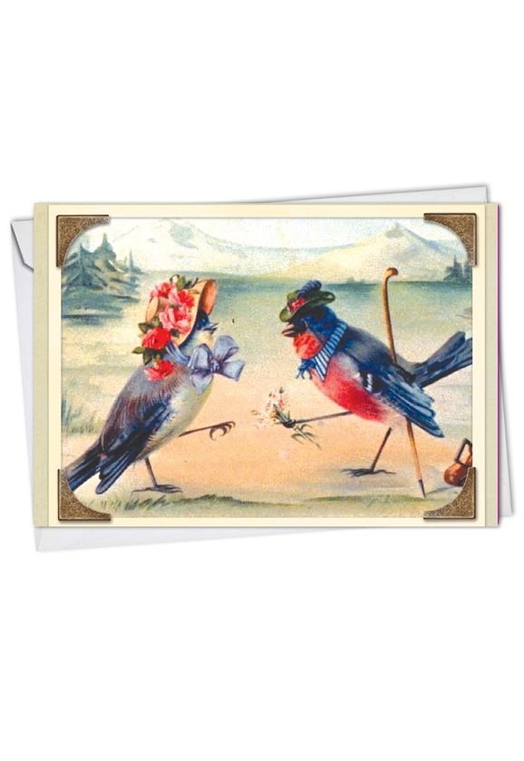 Stylish Anniversary Printed Greeting Card from NobleWorksCards.com - Sweet Tweets