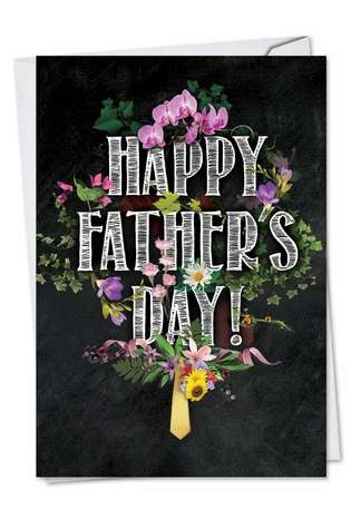 Stylish Father's Day Printed Card from NobleWorksCards.com - Chalk And Roses