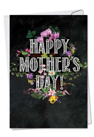 Chalk And Roses: Creative Mother's Day Paper Greeting Card