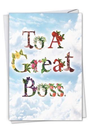 Creative Boss's Day Greeting Card From NobleWorksCards.com - Thanks A Bunch