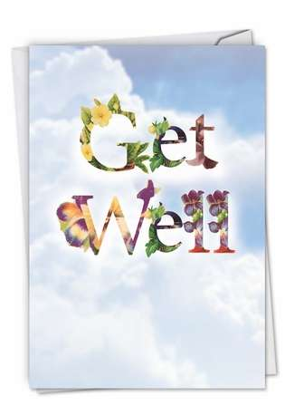 Creative Get Well Paper Card from NobleWorksCards.com - Bunches of Well Wishes