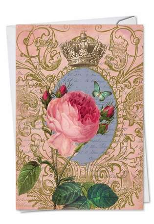 Stylish Valentine's Day Greeting Card by Batya Sagy from NobleWorksCards.com - Romance And Roses