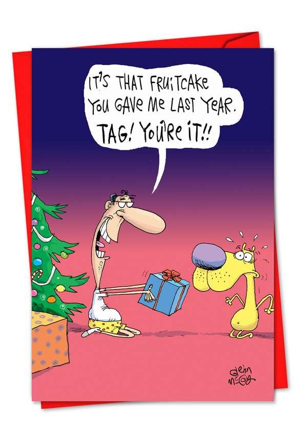 Fruitcake Tag: Hilarious Christmas Greeting Card