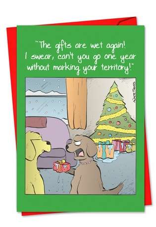 Hysterical Christmas Greeting Card by Nate Fakes from NobleWorksCards.com - Marked Gifts