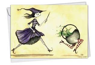 Hysterical Halloween Paper Card by Stagi Works from NobleWorksCards.com - Runaway Pot