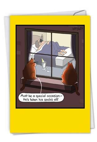 Funny Anniversary Greeting Card by Tim Whyatt from NobleWorksCards.com - Special Occasion Sex
