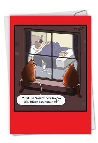 Humorous Valentine's Day Paper Greeting Card by Tim Whyatt from NobleWorksCards.com - Special Occasion Sex
