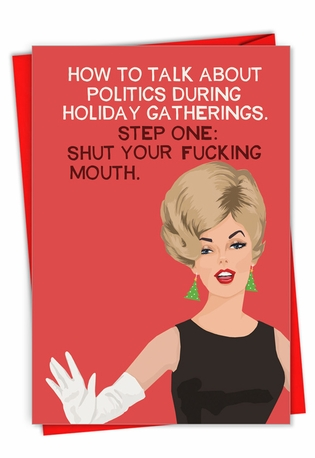 Hilarious Merry Christmas Greeting Card By Bluntcard From NobleWorksCards.com - Politics During the Holidays