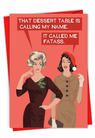 Hysterical Merry Christmas Printed Card By Bluntcard From NobleWorksCards.com - Calling My Name