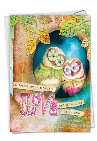 Stylish Wedding Paper Card by Haley Art & Design from NobleWorksCards.com - Forest Friends