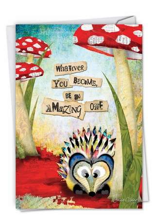 Stylish Graduation Printed Card by Haley Art & Design from NobleWorksCards.com - Forest Friends