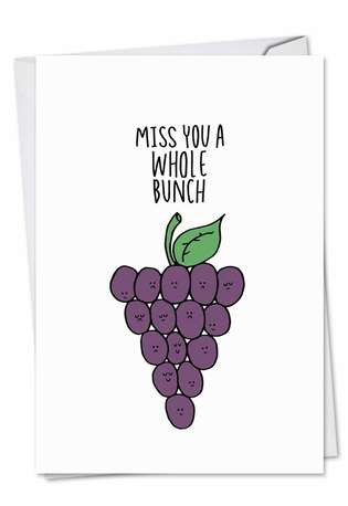 Stylish Miss You Paper Card by Leeann Walker from NobleWorksCards.com - Fun Puns