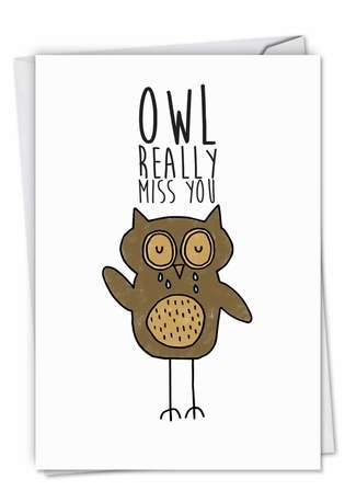 Creative Miss You Greeting Card by Leeann Walker from NobleWorksCards.com - Fun Puns