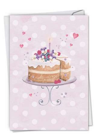 Creative Anniversary Printed Greeting Card by Karen Bentley from NobleWorksCards.com - Watercolor Cake